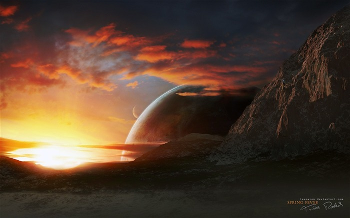 Sci-Fi Space Art-Spring Fever of the planet Views:8770 Date:9/15/2011 6:05:44 AM
