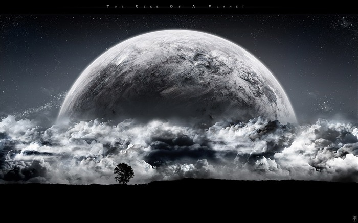 Sci-Fi Space Art-The rise of a planet Views:25067 Date:9/15/2011 6:04:58 AM