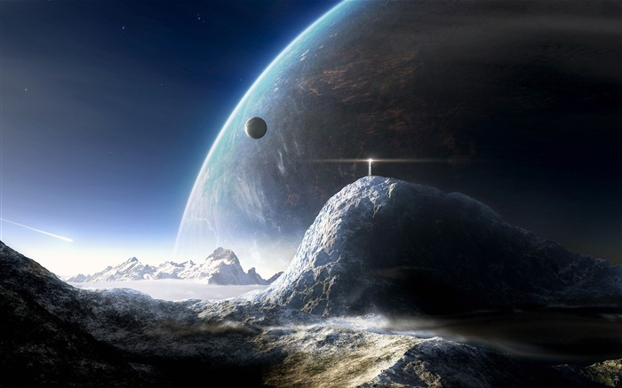 Sci-Fi Space Art-Winter on the planet Views:16030 Date:9/15/2011 6:07:13 AM