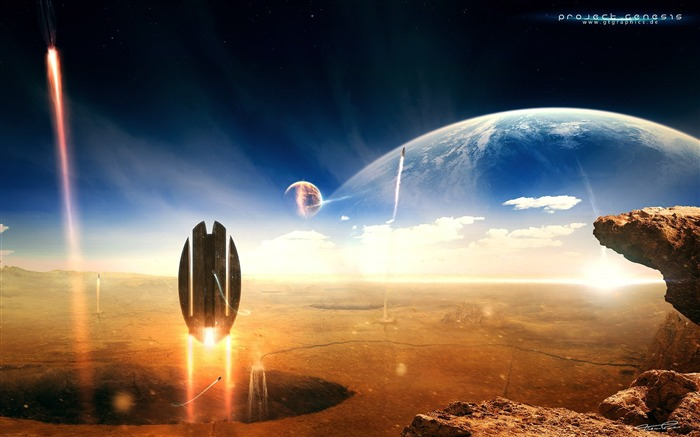 Sci-Fi Space Art-Masterpieces Sci-Fi Digital Artworks Views:23327