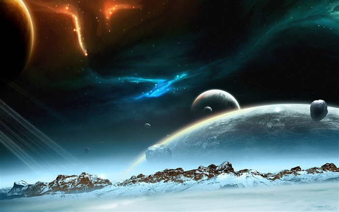 Sci-fi Space Art-Hibernacula of the planet Views:18599 Date:9/15/2011 6:22:29 AM