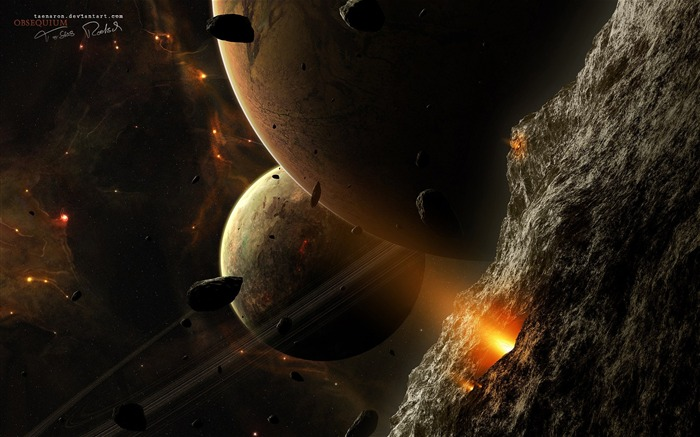 Sci-fi Space Art-Obsequium- planets and satellites Views:7059 Date:9/15/2011 6:14:01 AM