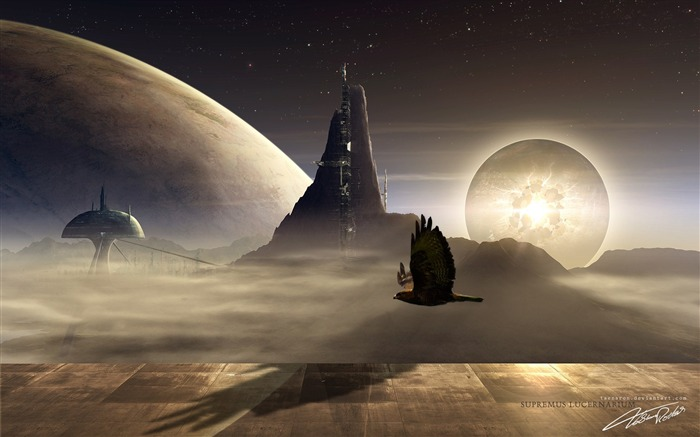 Sci-fi Space Art-graphics of planets and celestial bodies Views:15360 Date:9/15/2011 6:23:10 AM