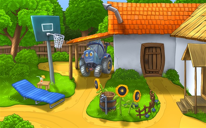 Small farm house Cartoon character - HD Desktop Wallpaper Views:39542