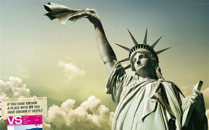 Statue of Liberty-Amazing advertising creative wallpaper Views:27953