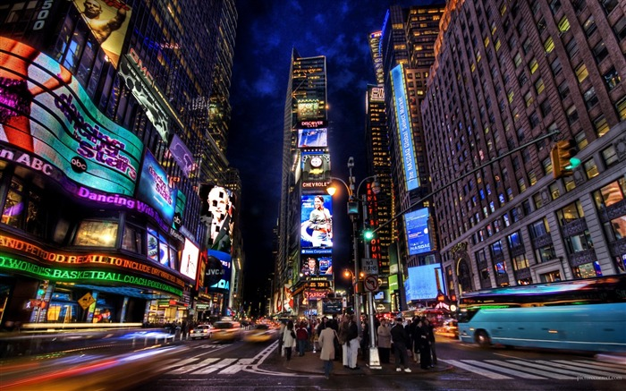 Times Square Night-Traveled the world Photography Wallpaper Views:10922 Date:9/27/2011 10:17:45 AM