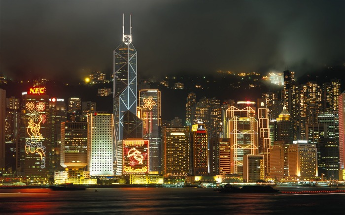 Pearl of the Orient - Hong Kong landscape wallpaper Views:33442