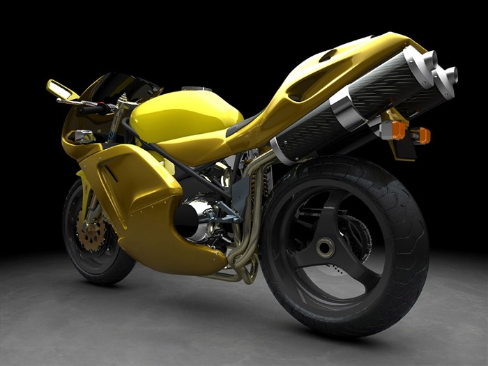 Yellow motorcycle- Motorcycle Wallpaper Views:6796 Date:9/19/2011 2:19:51 AM