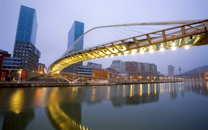 Zubizuri Bridge Spain-Traveled the world Photography Wallpaper Views:6007 Date:9/27/2011 10:32:10 AM