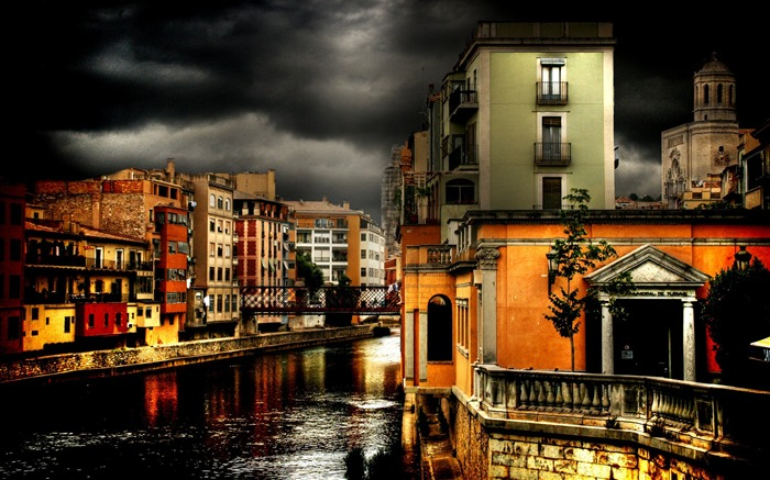 HDR Spanish cities Landscape Tour Wallpaper Views:15659