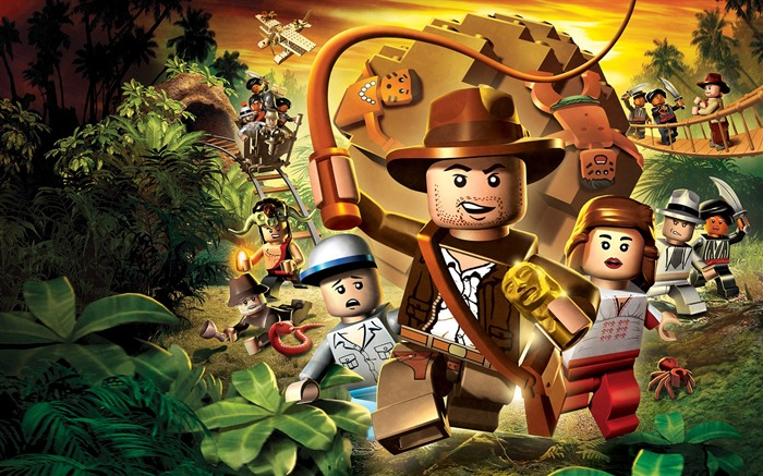 indiana jones lego Cartoon character - HD Desktop Wallpaper Views:12578