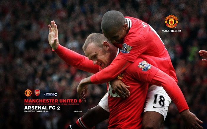 Arsenal 2 Manchester United 8-Star-Premier League matches in 2011 Views:6561