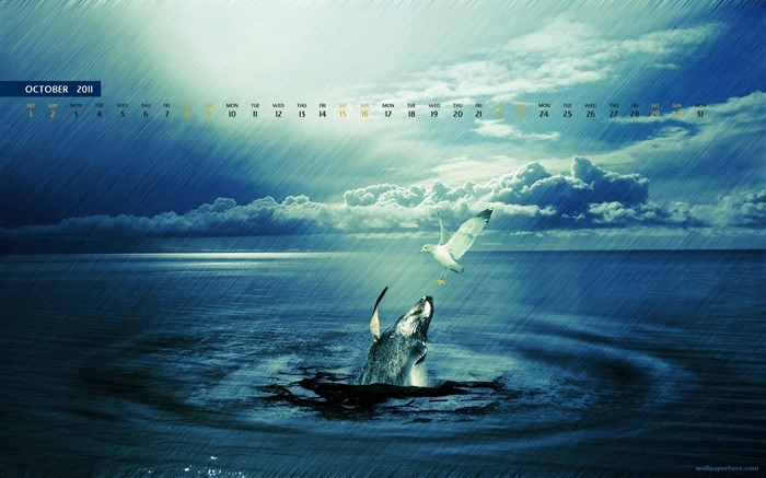 October 2011 - calendar wallpaper - second series Views:9825