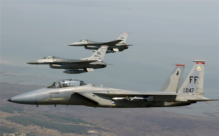 F 15 Eagle joined F 16 Fighting Falcons-Years of peace-military aircraft Views:4877