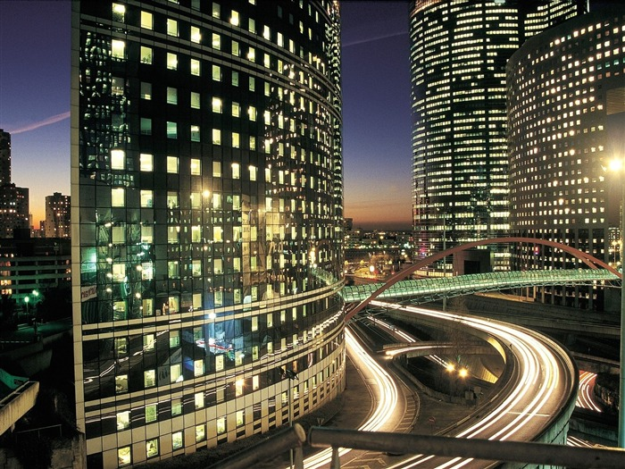 La Defense Business District Paris-Travel in the world - photography wallpaper Views:5236