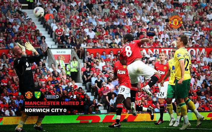 Manchester United 2 Norwich 0-Star-Premier League matches in 2011 Views:5124