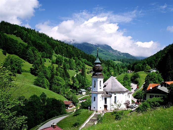 Maria Gern Church Germany-Travel in the world - photography wallpaper Views:7940