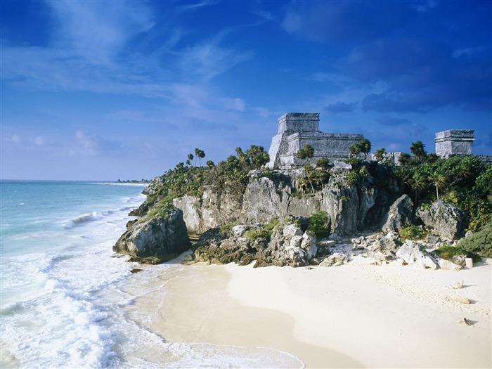 Mayan Ruins Tulum Mexico-Travel in the world - photography wallpaper Views:6371