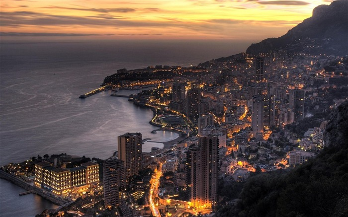 Monaco in Twilight-Travel in the world - photography wallpaper Views:4793