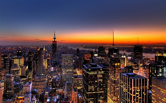 New York Skyline-Travel in the world - photography wallpaper Views:14999