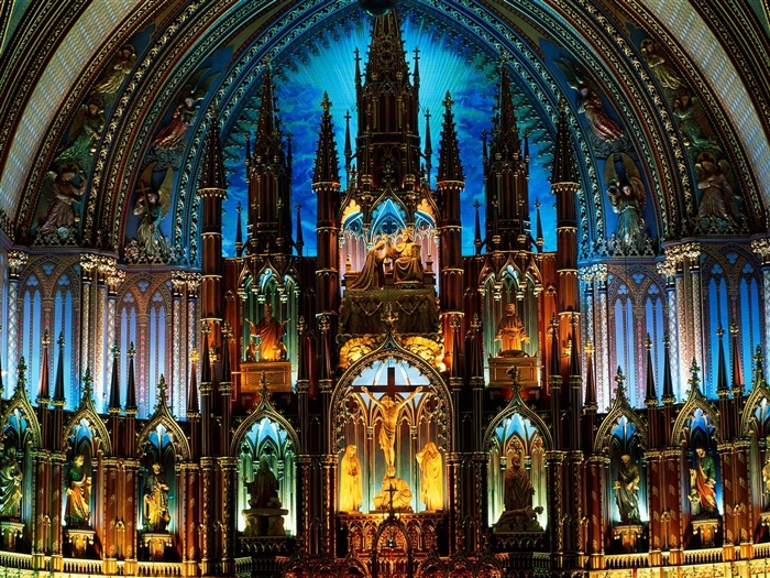 Notre Dame Basilica Canada-Travel in the world - photography wallpaper Views:7651