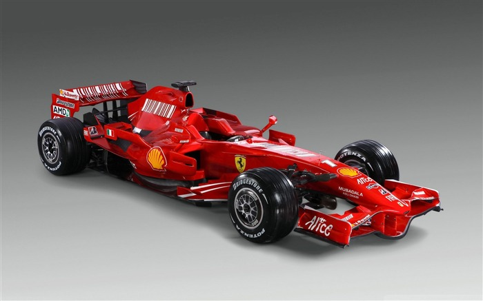 Red ferrari f2008-F1 Formula Racing Wallpaper Views:9834