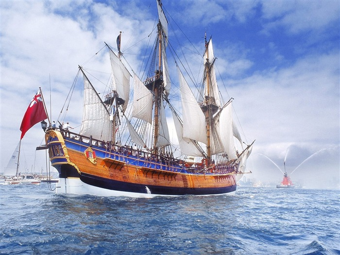 Replica of Endeavour on Sydney Harbor-Traveled the world Views:4191