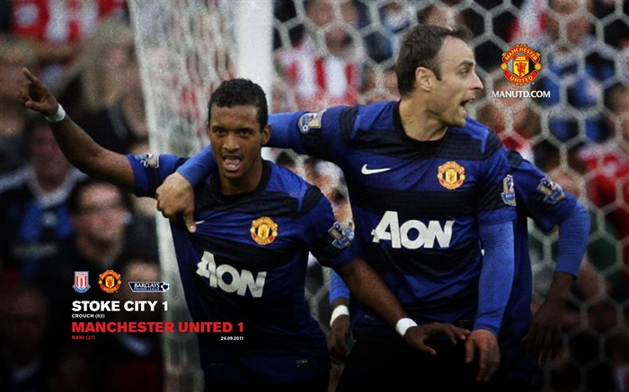 Stoke City 1 Manchester United 1-Premier League matches in 2011 Views:4314