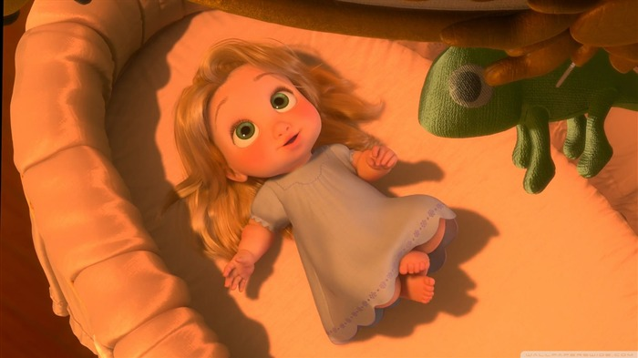 baby rapunzel-Tangled 2010 animated wallpaper Views:99995