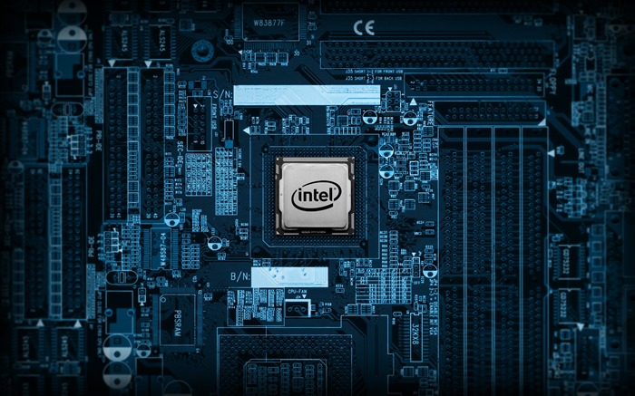intel chip-Well-known brand image display desktop wallpaper Views:23316