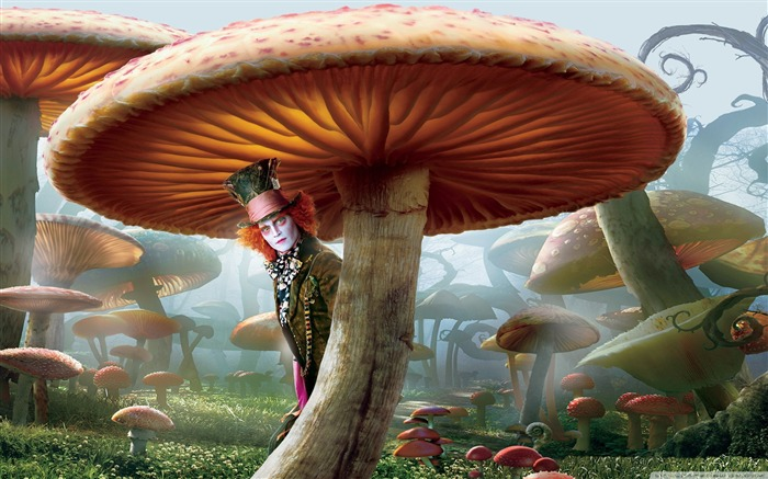 mad hatter-Alice in Wonderland Movie HD Wallpaper Views:14002