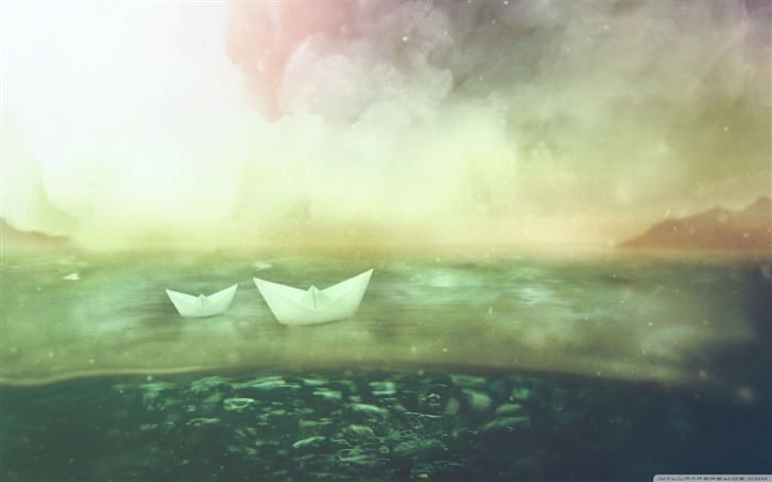 paper boats- Vintage Series Desktop Wallpaper Views:17240 Date:10/14/2011 1:19:15 AM