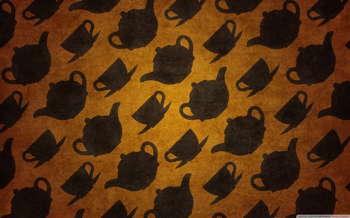 teacups pattern-Alice in Wonderland Movie HD Wallpaper 01 Views:58359