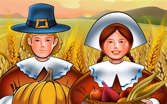 Thanksgiving day wallpaper illustration design Views:14976
