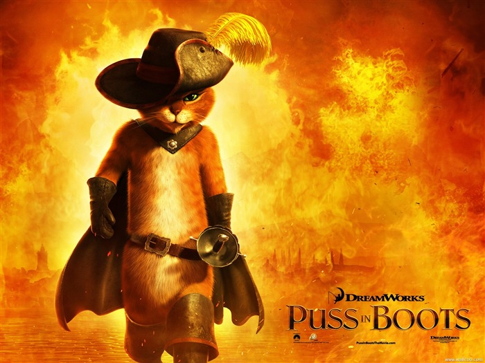 Puss in Boots-Anime Movie Desktop Wallpapers Views:7213