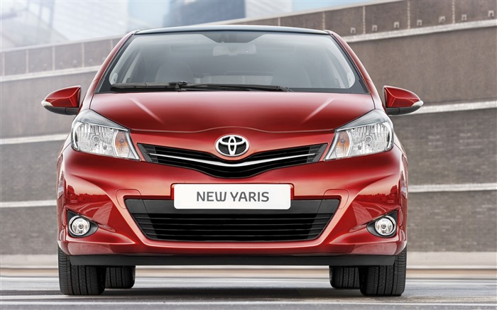 Toyota Yaris saloon car red appearance of the desktop wallpaper 12 Views:4466