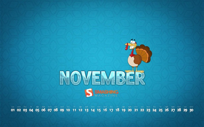 November 2011 - Calendar Desktop Wallpaper second series Views:8174