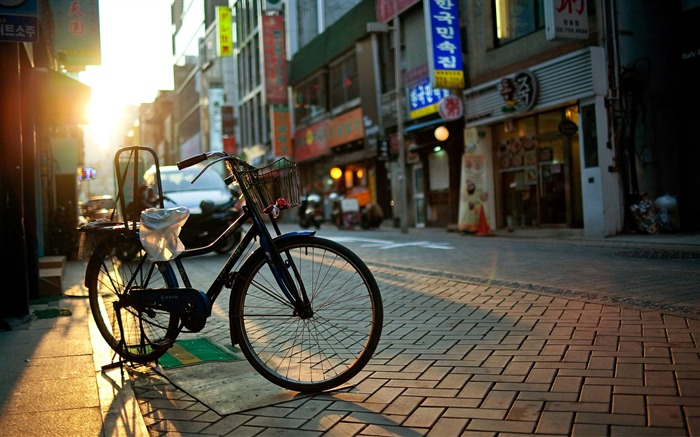 bicycle-The urban landscape photography Desktop Wallpapers Views:21127 Date:11/11/2011 8:01:07 AM