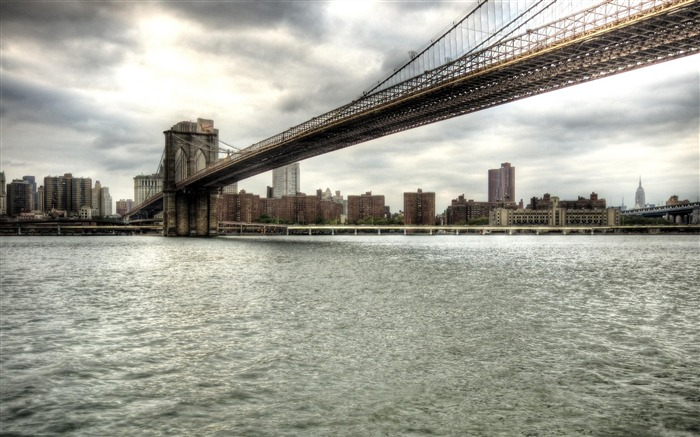 brooklyn bridge new york city-The urban landscape photography Desktop Wallpapers Views:14876