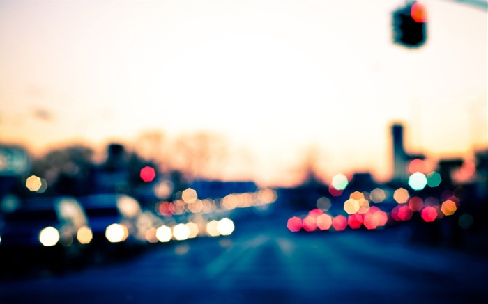 city bokeh lights-The urban landscape photography Desktop Wallpapers Views:38123 Date:11/11/2011 8:05:38 AM