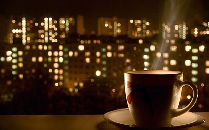 cup of coffee-The urban landscape photography Desktop Wallpapers Views:16261