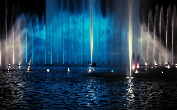 fountain night-The urban landscape photography Desktop Wallpapers Views:5217