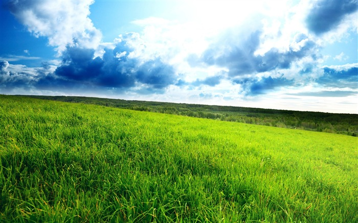 green hill-Beautiful natural scenery wallpaper Views:24847 Date:11/11/2011 7:07:55 AM