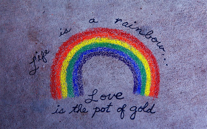 life is a rainbow-love wallpaper pictures Views:11027
