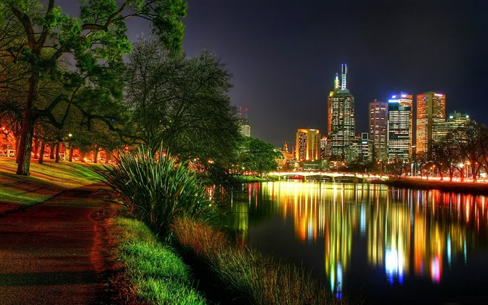 melbourne at night-The urban landscape photography Desktop Wallpapers Views:11459
