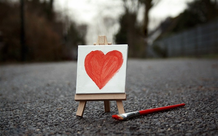 painted heart-love wallpaper pictures Views:8037