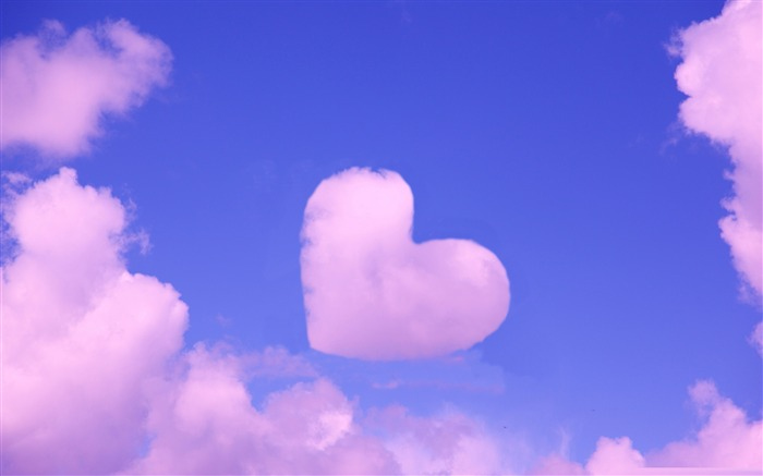 pink heart cloud-love wallpaper pictures Views:59041