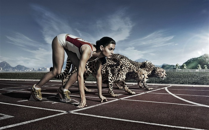 And cheetah race-Cute funny design desktop picture Views:6854