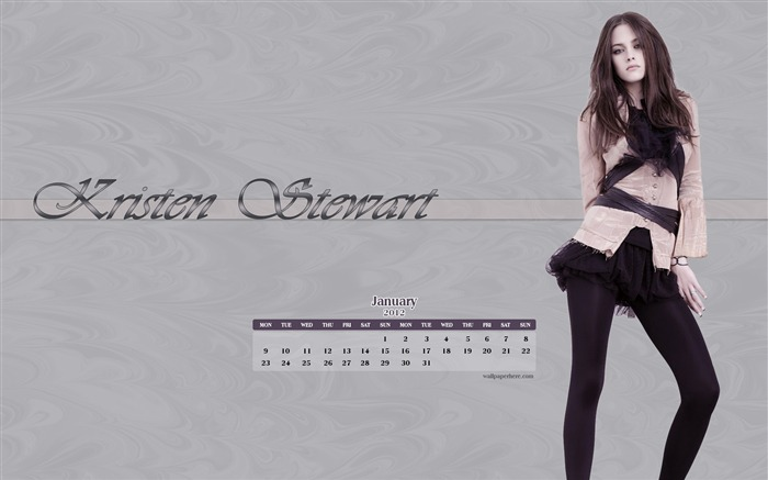 Kristen Stewart-January 2012 calendar desktop themes wallpaper Views:6658 Date:12/30/2011 11:55:28 PM