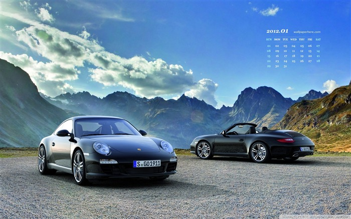 Porsche-January 2012 calendar desktop themes wallpaper Views:6458 Date:12/30/2011 11:59:55 PM